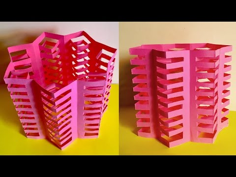 DIY : Easy paper crafts | Multi store paper house | Paper apartment module by artsNcraft