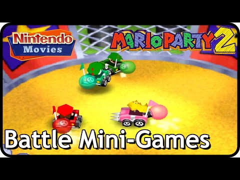 Mario Party 2 - All Battle Mini-Games