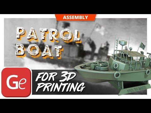 PBR Patrol Boat 31 Mk 2 3D Model from Battlefield Vietnam | Video by Gambody