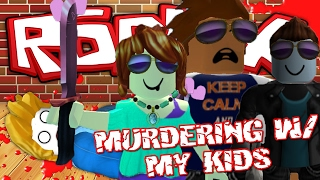 Murdering w/ My KIDS -|- Unboxing Legendary Items -|- ROBLOX MURDER MYSTERY 2