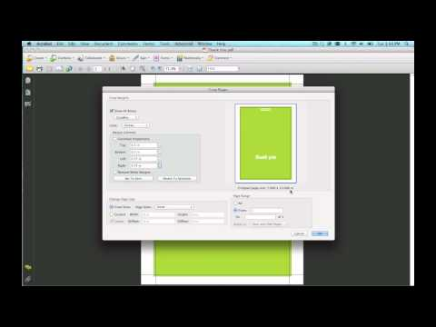 How To Use The Crop Tool In Adobe Acrobat