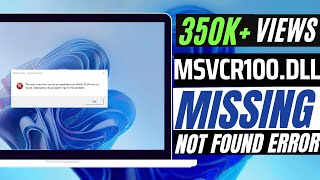 ✓✓✓ How To Fix msvcr100.dll Missing Error Windows 10/8.1/7