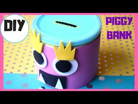 DIY PIGGY BANK with Hidden CHALKBOARD I BEST out of WASTE I Waste TIN Craft