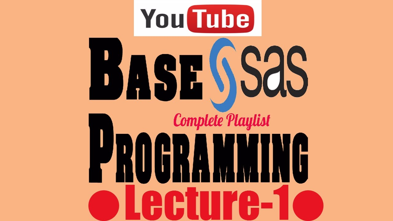 Free Complete Indepth Base Sas Programming With Real Life Example