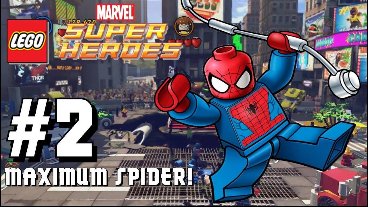 Marvel Super Heroes 60 Superhéroes: Let's Play Lego Marvel Superheroes Wii U- Part 2 Maximum