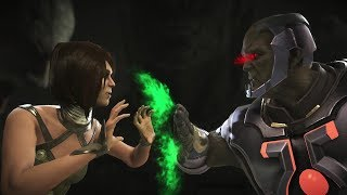 Injustice 2 : Enchantress Vs Darkseid - All Intro/Outros, Clash Dialogues, Super Moves