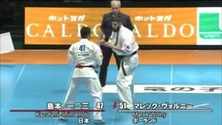 第11回全世界空手道選手権大会 男子3回戦 島本一二三 vs マレック・ヴォ...