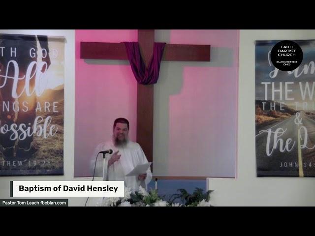 Baptism Of Dave Hensley