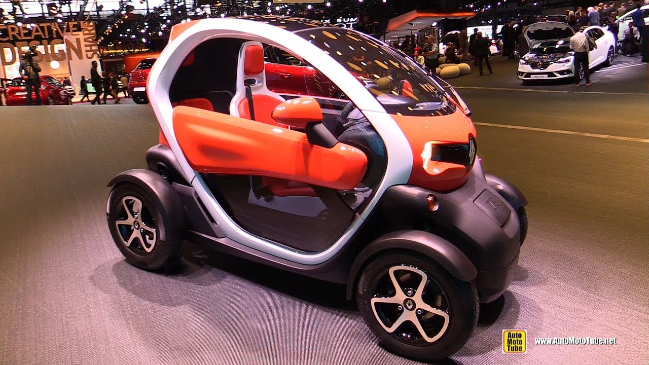 781385cb7e 2017 Renault Twizy Electric Vehicle - Exterior and Interior Walkaround -  2016 Paris Motor Show