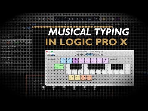Logic Pro X - Musical Typing