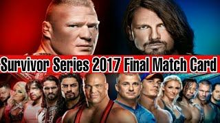 Survivor Series 2017 : Final Match Card & Prediction ||wwe hindi khabar ||