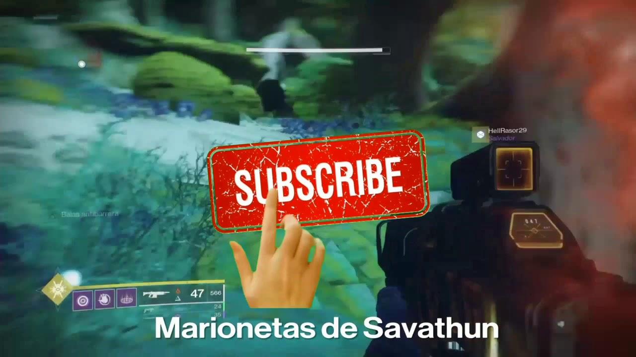 Marionetas de Savathun 2/2 Destiny 2 Temporada de los Visitantes