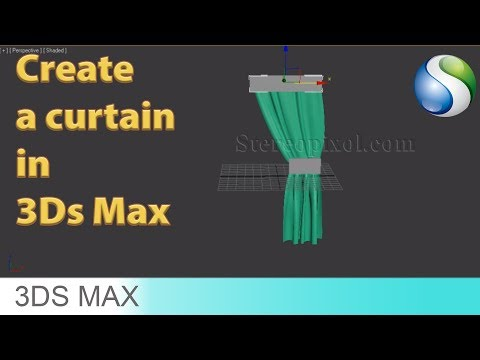 How to create a curtain in Autodesk 3Ds Max 2017 - Beginner tutorial