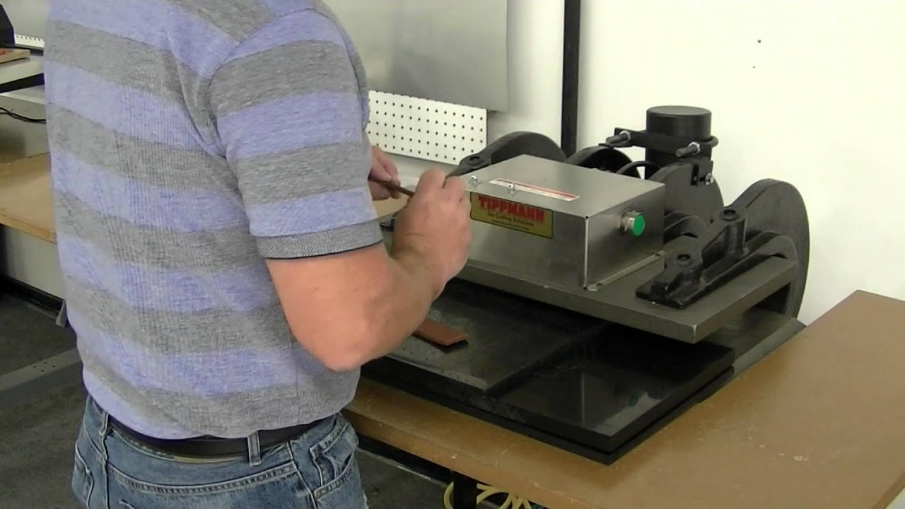 Tippmann Clicker 1500 Die Cutting Press Embossing Leather