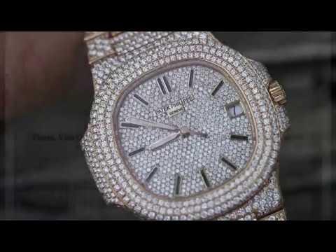 8e8772dfef6 Patek Philippe Nautilus 18K Gold Diamond Watch - YouTube