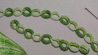 Ленточное кружево  УРОК ВЯЗАНИЯ КРЮЧКОМ для начинающих  Crochet Simple Lace