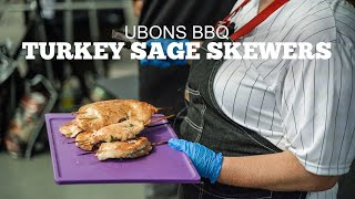 Ubons BBQ | Skewered Sage Turkey Breast