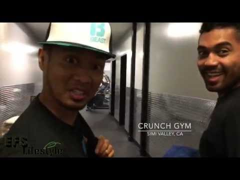 Working Out @ 'Crunch Simi Valley' (VEGAN Bodybuilding) - August 2 & 4, 2016