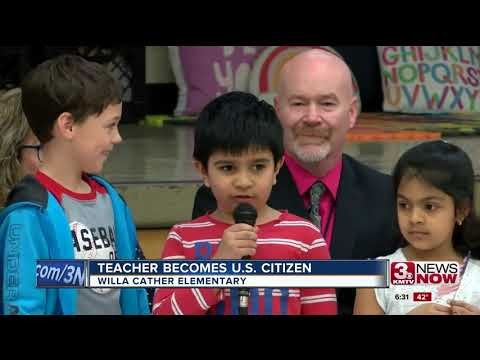 Millard Schools teacher takes lesson out of classroom by becoming American citizen