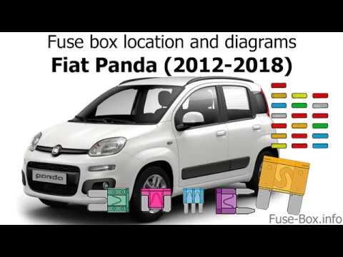 fuse box location and diagrams: fiat panda (2015-2018)