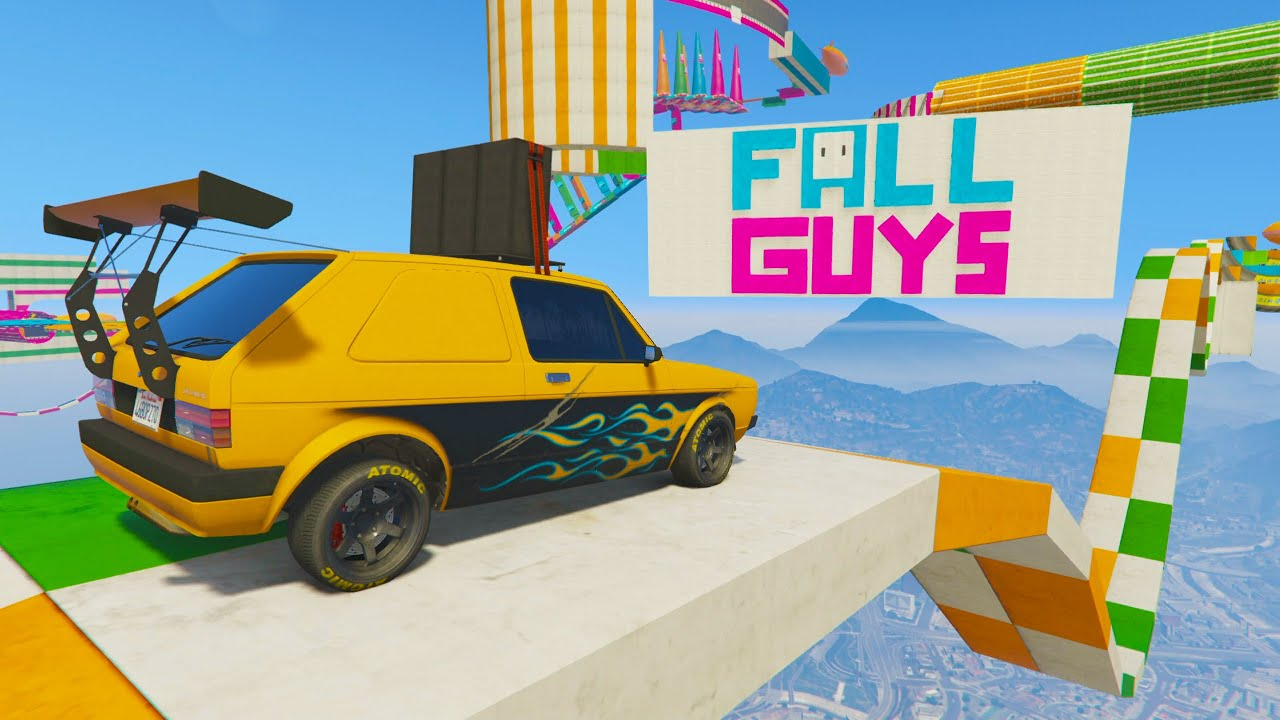 NIVELES DE FALL GUYS! IMPOSIBLE! - GTA V ONLINE