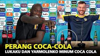 DRAMA BERLANJUT !!! Lihat yang Dilakukan Lukaku dan Yarmolenko Pada Coca Cola yang Ada Di Depannya