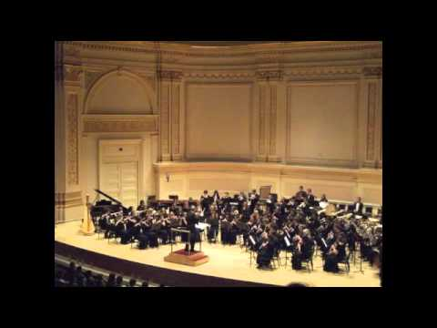 Equus performed by Cardiff and Vale Youth Wind Band in Carnegie Hall
