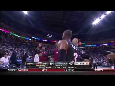 April 26, 2014 - ESPN - Playoffs Rd.1 Game 03 Miami Heat @ Charlotte Bobcats - Win (03-00)(Heat HL)