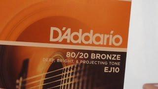 D'Addario Acoustic Guitar Strings EJ10 VS EJ13 80/20 Bronze .010 .011 REVIEW