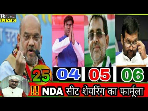 #Bihar #NDA  #Breaking बिहार NDA का फाईनल सीट फार्मूला, VIP को 04 सीटें .. Breaking News Bihar