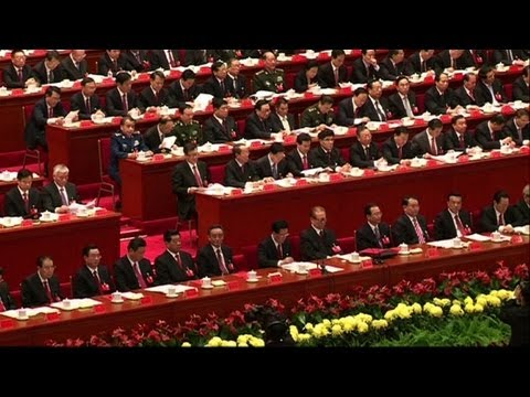 China party congress sets Xi on leadership path - YouTube