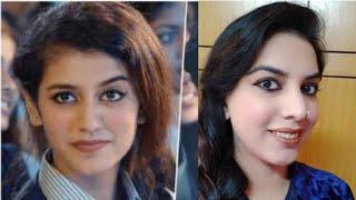 Priya prakash varrier makeup and hairstyle