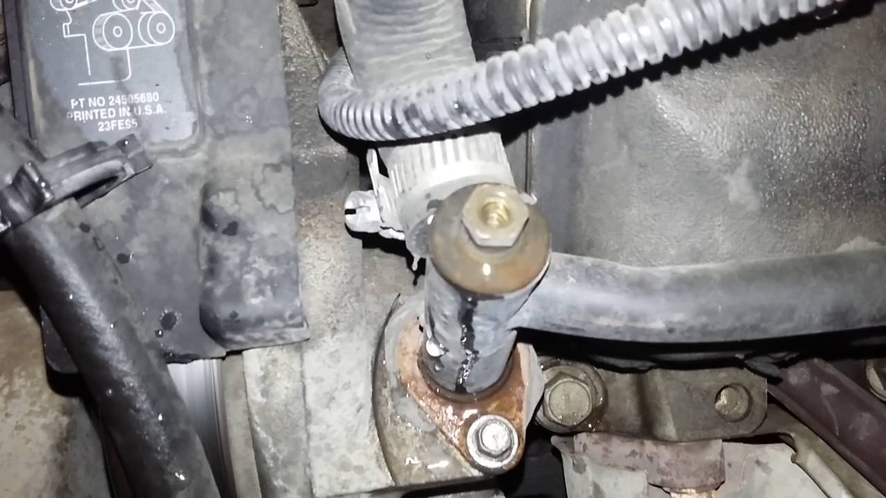 2000 Chevy Malibu Overheating bleeder valve - YouTube