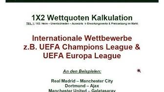 Wettquoten Kalkulation - UEFA Wettbewerbe - Erwartungswerte & Preissetzung