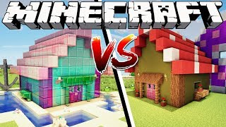 FAIRY HOUSE VS MERMAID HOUSE - Minecraft