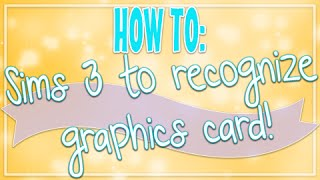 The Sims 3 | How To: Recognize your Graphics Card!(OPEN FOR IMPORTANT LINKS AND INFO PLEASE NOTE: This will be different for everyone. But this is the basic Steps. I tried my best to try and explain this!, 2016-04-10T14:56:46.000Z)
