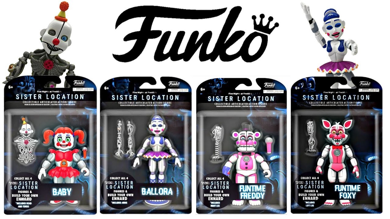 SISTER LOCATION Five Nigts at Freddy/'s Funko Vinyl Action Figures Funko