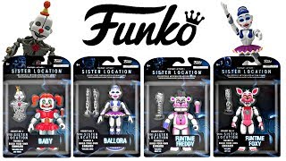 FNAF Funko Sister Location Action Figures, Five Nights at Freddy's
