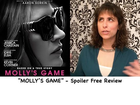 MOLLY'S GAME Official Movie Review // Jessica Chastain, Idris Elba, Kevin Costner