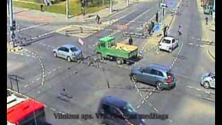 15min.lt - Avarija Vilniuje: motociklo ir mersedeso susidūrimas