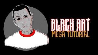 ВИДЕОУРОК: BLACK ART ПО ФОТО - MEGA TUTORIAL, КАК НАРИСОВАТЬ АРТ БЕЗ ПЛАНШЕТА, HOW PAINTING ART