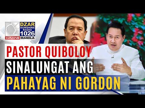 Pastor Quiboloy, sinalungat ang pahayag ni Sen. Gordon laban sa Duterte admin