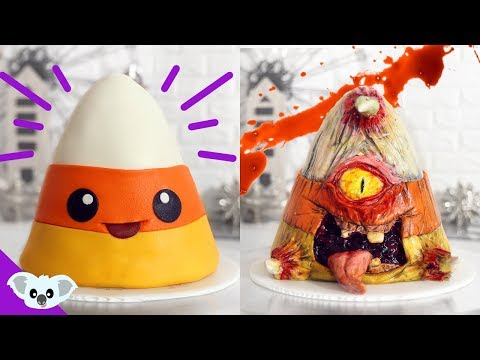 AMAZING HALLOWEEN CAKE Cute and Scary Candy Corn  MONSTER!  | How to Birthday Party Cake | Koalipops