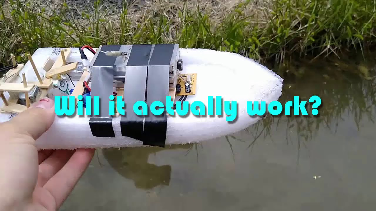 FPV RC Boat made from GARBAGE! картинки