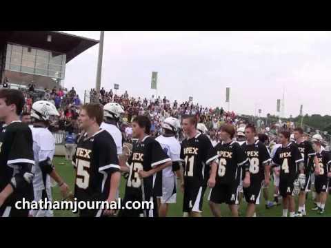 Apex vs Lake Norman Lacrosse Post Game handshake