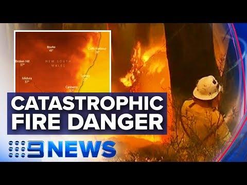 'Catastrophic' fire danger for Greater Sydney, Illawarra, Southern Ranges | Nine News Australia