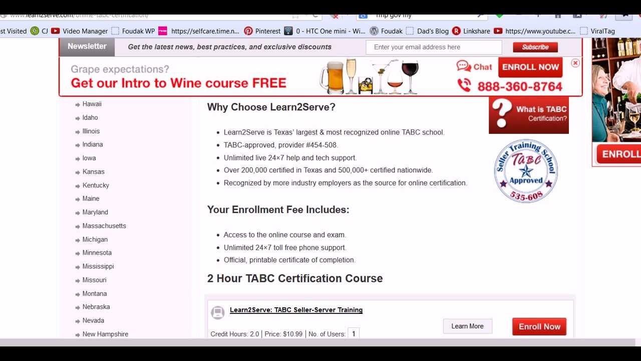 15 Discount Coupon Code Tabc Courses Learn2serve Youtube