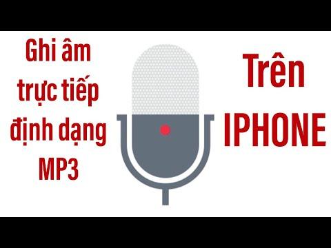 Ghi âm định Dạng Mp3 Trên Iphone