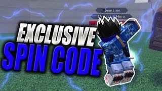 EXCLUSIVE SPIN CODE | Soloing Nomu in Hero Acadmey Tempest in Roblox | iBeMaine