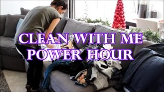 CLEAN WITH ME | SPEED CLEANING | POWER HOUR